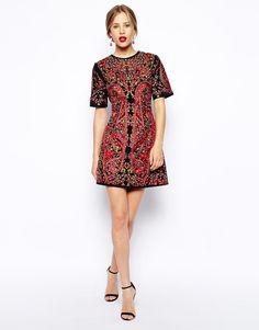 Gorgeous short patterned prom dress under $250!