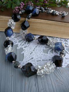 Collana di agata druzy collana pietra agata di JewelryFromDreams