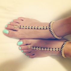 Traditional indian anklets. Nice if your feet aint crusty crusts