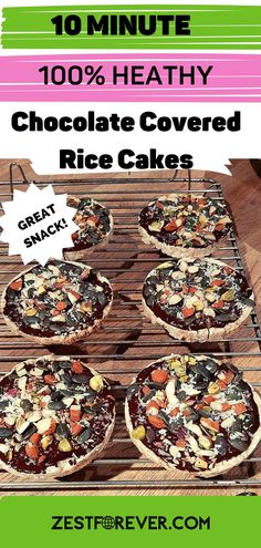 You'll never find a loaded, nutrient dense, chocolate covered rice cake like this in the supermarket, that's for sure! That's why you should make your own healthier versions in 10 minutes flat. Not only are they WAY better for you, but you can add any toppings you like. Need to get your healthy omegas and fats? Just add them to your rice cake and they will taste delicious. You can use these as substantial and filling snacks that awlays hot the spot. #plantbasedsnacks #snackideas #healthyfats Rice Cake Recipes, Rice Cakes, Whole Food Recipes, Homemade Crisps, Homemade Crackers, Plant Based Snacks, Plant Based Diet, Low Calorie Cookies, Healthy Vegan Cookies