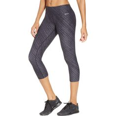 cdc9c8725b38 Calvin Klein Performance Womens Quick Dry Printed Athletic Leggings Black  XL -- Check out the