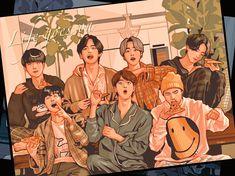 K Pop, Foto Bts, Bts Jungkook, Namjoon, Fanart Bts, Jungkook Fanart, Days Manga, Kpop Drawings, Bts Backgrounds