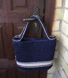 Handmade crochet bag from rope will be the best accessory or a gift for you or your friend! Perfect for using everyday, at the beach or for shopping. This stylish handbag just begs to be with you on holiday. Size: height 28 cm [11 in] width 36 cm [14 in] The length of the handle 44 cm