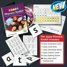 Jazzy Phonics Tookit and Teacher Resources for teaching systematic synthetic phonics.  Created by independent Phonics Consultant and Trainer, Jaz Ampaw-Farr.