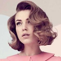 This sweet, vintage vibe is the perfect style to try for all those girls who partook in the Lob trend!! sexyhair.com