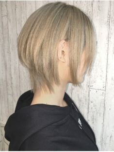 Tomboy Hairstyles, Lob Hairstyle, Long Bob Hairstyles, Asian Short Hair, Asian Hair, Hair Inspo, Hair Inspiration, Types Of Hair Color, Shot Hair Styles