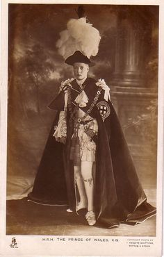 U.K. - H.R.H. The Prince of Wales, K. G. unused real photo postcard in Collectibles, Postcards, Royalty | eBay