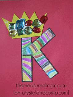 I'm Anna from The Measured Mom - and this week I'm sharing a Letter of the Week Craft for letter K. Looking for even more alphabet activities for preschooler Preschool Letter Crafts, Alphabet Letter Crafts, Abc Crafts, Preschool Projects, Daycare Crafts, Classroom Crafts, Alphabet Activities, Preschool Activities, Preschool Art
