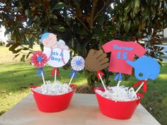 Baseball Theme Baby Shower Decoration Centerpiece Combo by CraftyPolishGal on Etsy https://www.etsy.com/listing/252272237/baseball-theme-baby-shower-decoration