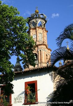 www.puertovallarta.net/gallery/index.php The church of Our Lady of Guadalupe, in the center of Puerto Vallarta has become a worldwide symbol for the city. The characteristic crown on top of the church tower, a replica of the crown that Empress Carlota carried, the wife of Maximilian of Habsburg, Emperor of Mexico in 1864