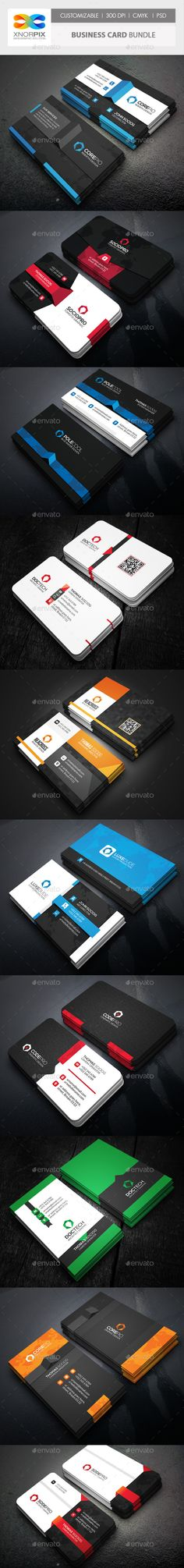 Business Card Bundle 10 in 1 - Corporate Business Card Template PSD. Download here: http://graphicriver.net/item/business-card-bundle-10-in-1/11938145?s_rank=1778&ref=yinkira