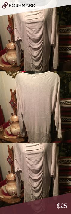 EUC* like new! CACHE' beige dolman top, szM Super soft & stretchy beige dolman top by CACHE'. Size Medium. Never worn, just tried on. Was Christmas gift. Cache Tops Blouses