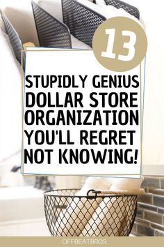 13 Creative Dollar Store Organization Hacks You&;ll Love 13 Creative Dollar Store Organization Hacks You&;ll Love My Real Life At Home Organizing Your Home DIY Dollar Store […] for home dollar stores Astuces Dollar Store, Dollar Store Hacks, Dollar Store Crafts, Dollar Stores, Dollar Store Bins, Organisation Hacks, Closet Organization, Small Bedroom Organization, Closet Hacks