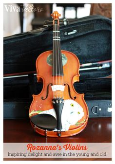 Get your child interested in violin with Rozanna's Designer Violins!  They're awesome looking and affordably priced!