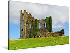 Premium Textil-Leinwand 90 x 60 cm Quer-Format Irland - Abteien und Burgen Ireland, Canvas