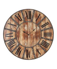Take a look at this Roman Numeral Clock by UMA Enterprises on #zulily today!