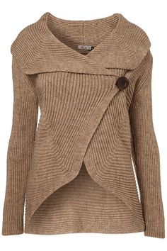 button knit cardigan by wal g**