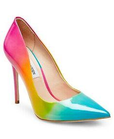 Steve Madden Zaney Rainbow Pumps - Home - Macy's Women's Shoes, Pump Shoes, Shoe Boots, Platform Shoes, High Heel Boots, High Heel Pumps, Stiletto Heels, Sexy Heels, Stilettos