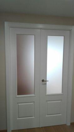 #puertas @puertassanrafae Modelo 9202 RTL Cristal mate #calidad #diseño #lacadosenblanco #sevilla
