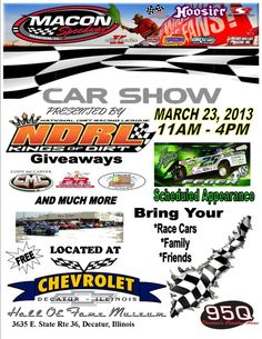 MACON SPEEDWAY GEARS UP FOR 2013 WITH CAR SHOW Presented by National Dirt Racing League and 95Q