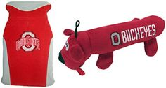 NCAA Ohio State Buckeyes Pet Tube Toy and Pet Fleece Vest Bundle - X-Small ** Continue to the product at the image link. (This is an affiliate link and I receive a commission for the sales) Dog Chew Toys, Dog Toys, Gadget, Fleece Vest, Ohio State Buckeyes, Pet Accessories, Tube, Image Link, Pets