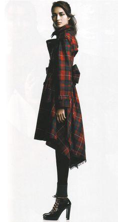 Cool plaid coat & great shoes❣