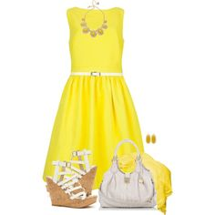 """Yellow Dress"" by daiscat on Polyvore"
