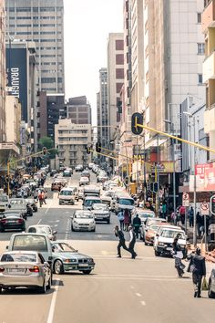 While all eyes are on Cape Town and the splashy new Zeitz Museum Of Contemporary Art Africa, Johannesburg, the city's gritty, sprawling big sister, has a newfound sophistication that might surprise you. Here are our top things to do in Joburg now. Urban Photography, Minimalist Photography, Johannesburg City, African Holidays, Black Art Painting, Fantasy City, Orange Art, Africa Art, Landscape Drawings