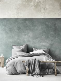 Maison Fringe quilt cover in Smoke, AURA Home, AW17 collection.