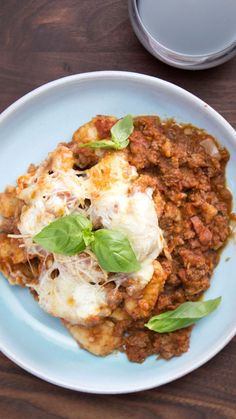 Switch out your tagliatelle with gnocchi for an extra hearty, no baloney, bolognese.