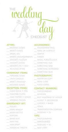Wedding Planner Template Guide Checklist Decoration