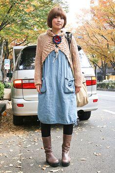 Kindergarten teacher meets survivalist meets fashion.