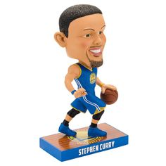 Forever Collectibles Golden State Warriors Stephen Curry Caricature Bobble Head, Multicolor