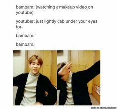 Bambam and dabs Got7 Bambam, Bambam Dab, Mark Bambam, Youngjae, Got7 Meme, Got7 Funny, Jimin, Oppa Gangnam Style, Meme Center