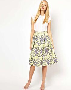 ASOS Midi Skirt in Abstract Jacquard