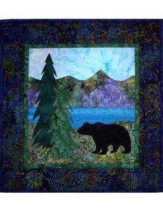 Mountain Walk bear quilt pattern
