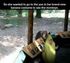 Funny Pictures of the week pics- She Wanted To Go To The Zoo In Her Banana Costume