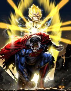 Majin Vegeta vs Superman by Ryan Pasibe