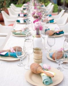 "See the ""The Reception"" in our A Beach Destination Wedding in Shades of Blue in Mexico gallery http://www.marthastewartweddings.com"
