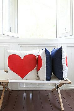 heart pillows by wendy polish & beth katz Heart Cushion, Heart Pillow, Do It Yourself Inspiration, My New Room, My Dream Home, Decoration, Home Accessories, Home Goods, Sweet Home