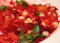 Salada de Beterraba, Cenoura e Grão-de-Bico