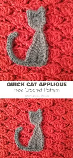 crochet applique Who doesn't like cats? We love them, and can't get enough of cat patterns to crochet. In addition to specifically cat-themed projects, there a Crochet Sheep, Crochet Gratis, Crochet Teddy, Crochet Applique Patterns Free, Crochet Motifs, Crochet Flower Patterns, Crochet Appliques, Quick Crochet, Cute Crochet