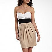 B Smart Strapless Colorblock Dress with Pockets- JCP