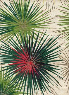 1950's Barkcloth Drapes pattern