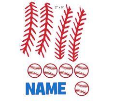 Baseball Stitching cranial band decoration size