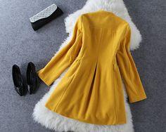Bow woolen long-sleeved Coat