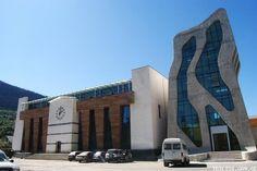 The new police station in Svaneti, Georgia