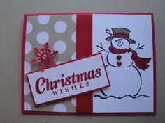 FROSTY SNOWMAN CHRISTMAS Card Kit (4 cards lot) Stampin up, holiday kids winter