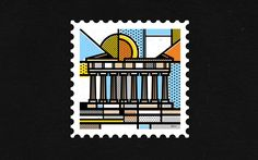Mike Karolos (Smirap Designs)   This stamp collection is a self initiated project that aims to show the beautiful side of Greece in an illustrative abstract style