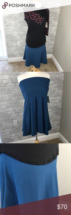 LuLaRoe Outfit XS Randy and XS Azure Matching paisley top and solid swing skirt.  NEW with tags!  smoke and pet free home LuLaRoe Skirts